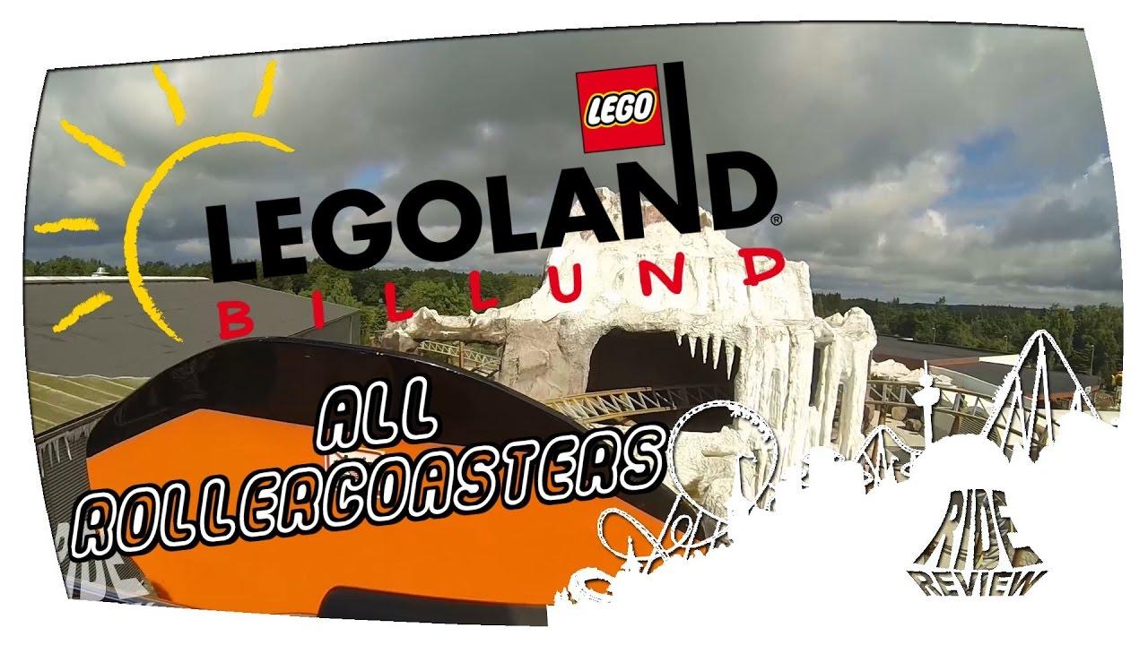 Legoland Billund - All Rollercoasters - YouTube
