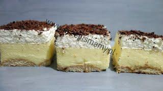 Szybkie ciasto na niedzielę do kawy! Przepis na ciasto Budyniowiec! Ciasto z budyniem bez pieczenia