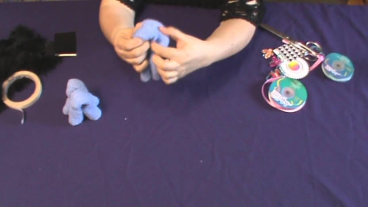 figura de burro toalla origami