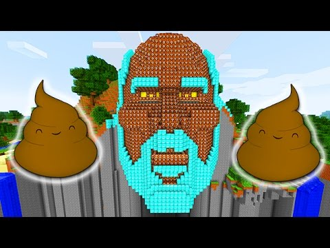 LUCKY POOP BLOCKS TEMPLE OF NOTCH LAND MOD CHALLENGE - MINECRAFT MODDED MINI-GAME!