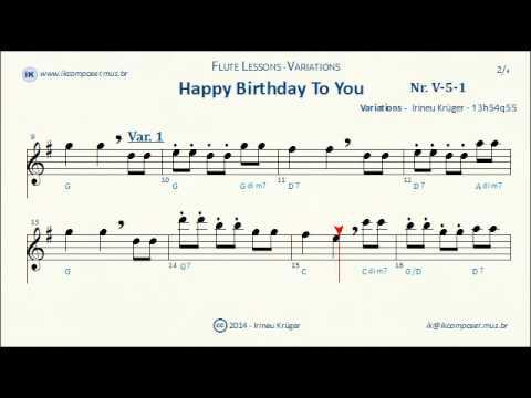 Flute Variation 01 Happy Birthday To You Youtube