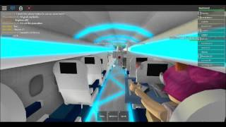Roblox | Aqua Airways Dash-8 Q400 landing and disembarking