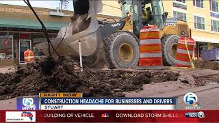 Construction headache for businesses and drivers