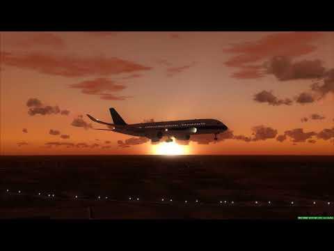 CHINA SOUTHERN A350-900 landing at Ubon Ratchathani ++ FSX