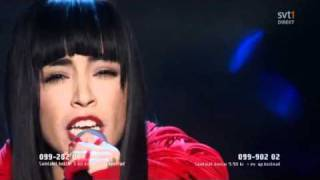 Loreen My heart is refusing me Melodifestivalen 2011