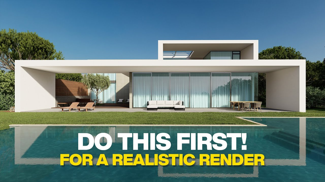 Do this before starting a Project to create a REALISTIC render!