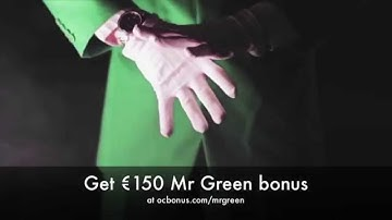 Mr Green bonus code - 150€ and 10 free spins
