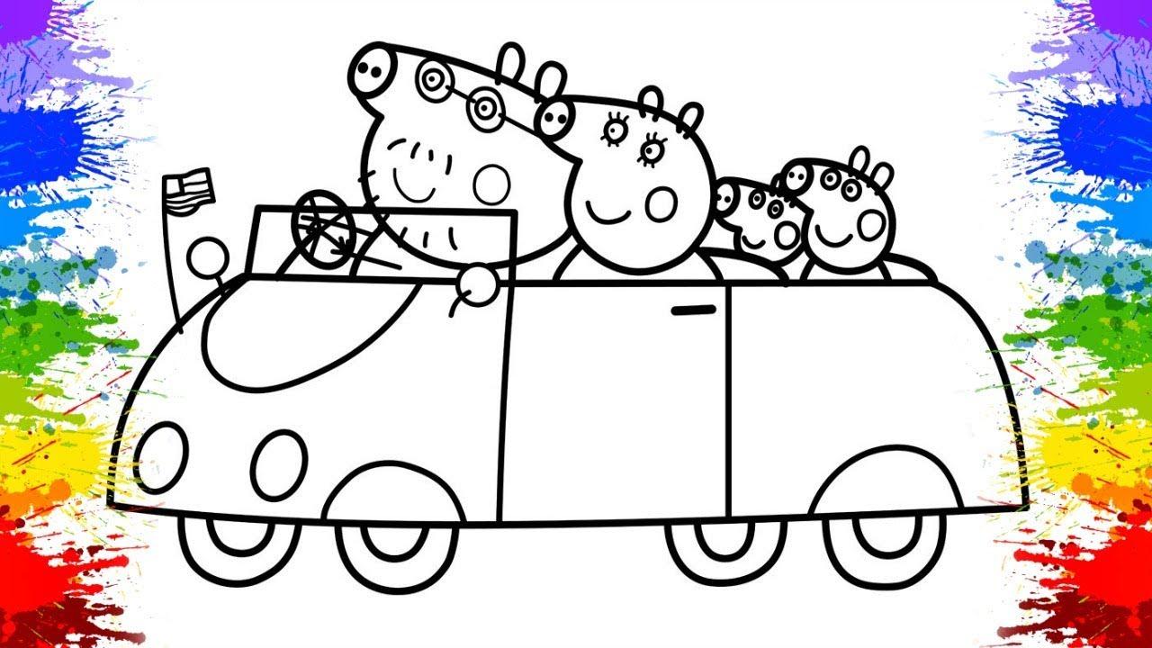Desafio Colorindo Desenho da Peppa Pig Português Brasil com Giz de Cera | Peppa Pig para Crianças