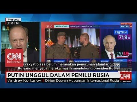 Menang Telak, Vladimir Putin Unggul Di Pilpres Rusia