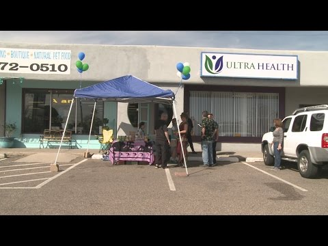 Local Girl Scouts sell cookies outside Ultra Health Dispensary