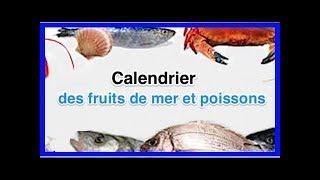Calendrier Des Poissons Et Fruits De Mer De Saison.Saisons Fruits De Mer Eden Frais