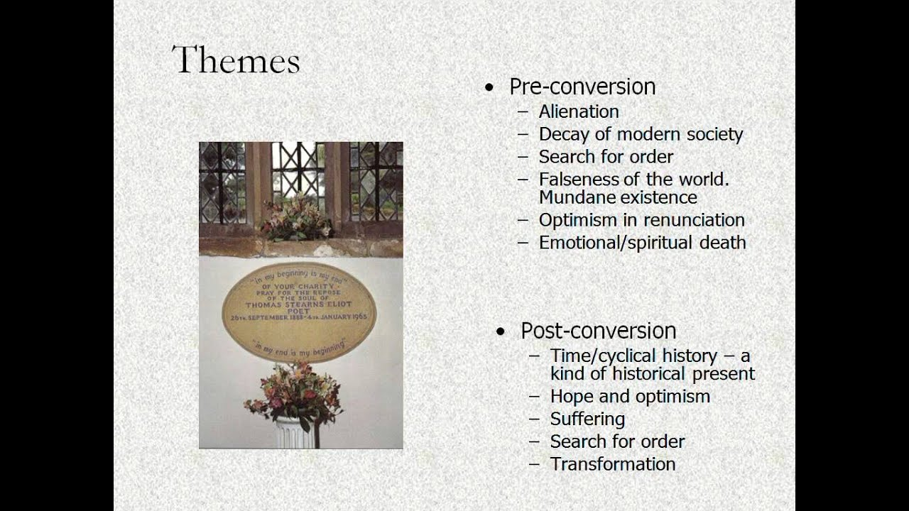 Themes In The Poems Of T S Eliot Youtube Poems for a variety of themes and seasons. themes in the poems of t s eliot
