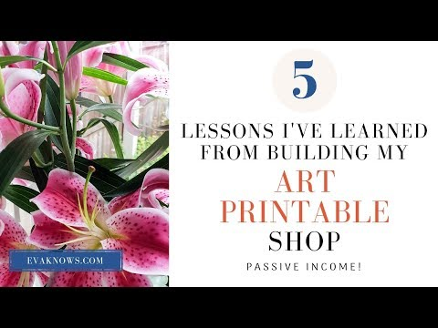 Etsy For Beginners - 5 lessons learned from building an art printable Etsy shop!