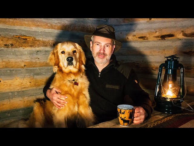 Off Grid Cabin Life with My Dog: Rustic Kitchen for the Wilderness Homestead
