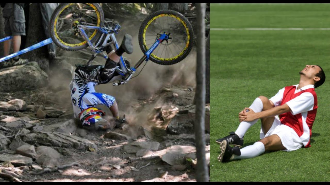 Mountain Bike Vs Football Youtube