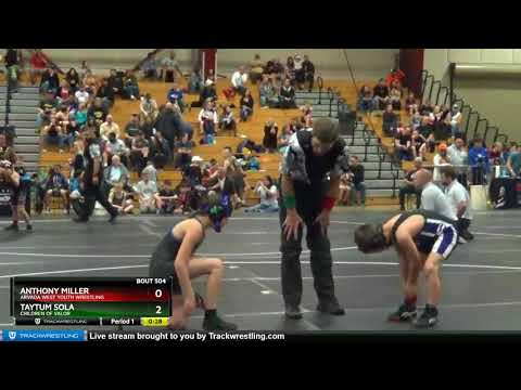 True Beginner Bantam 64-68 Anthony Miller Arvada West Youth Wrestling Vs Taytum Sola Children Of V
