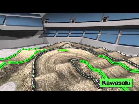 Supercross LIVE 2014 – Oakland 12514 – Monster Energy Supercross Animated Track Map