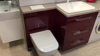 Обзор мебели под стиральную машину из коллекции «Грация» от  Skvami