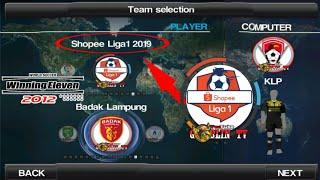 Gambar cover Download We2012 mod Shopee Liga1 2019 - Hanya 150MB Full Update Kits, dan Transfer 2019