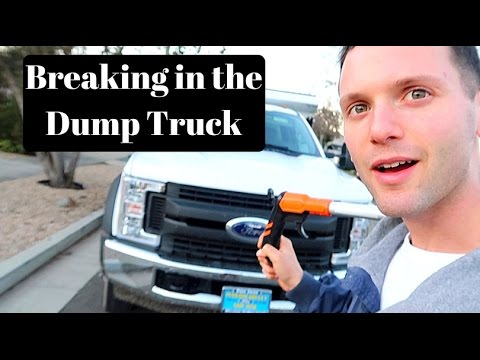 Demo of Concrete and Breaking in the New DumpTruck