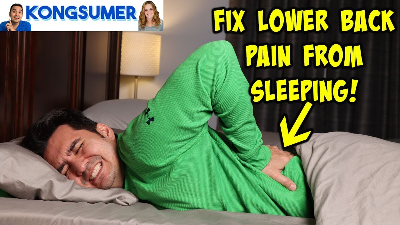 how to fix lower back pain from sleeping on a budget lumbar pillow review in 4k