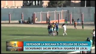 Defensor La Bocana 5- 3 Delusa de Casma. Noticiero Conéctate Sechura