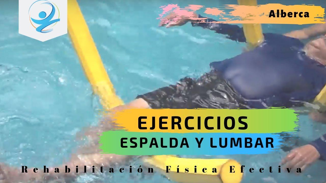 Ejercicios para espalda o lumbalgia youtube for Ejercicios espalda piscina