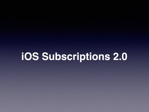 iOS Subscriptions 2.0