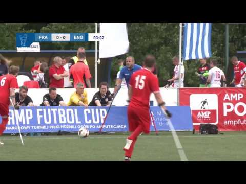 Francja v Anglia - mecz grupowy Amp Futbol Cup 2017 (France v England Group B)