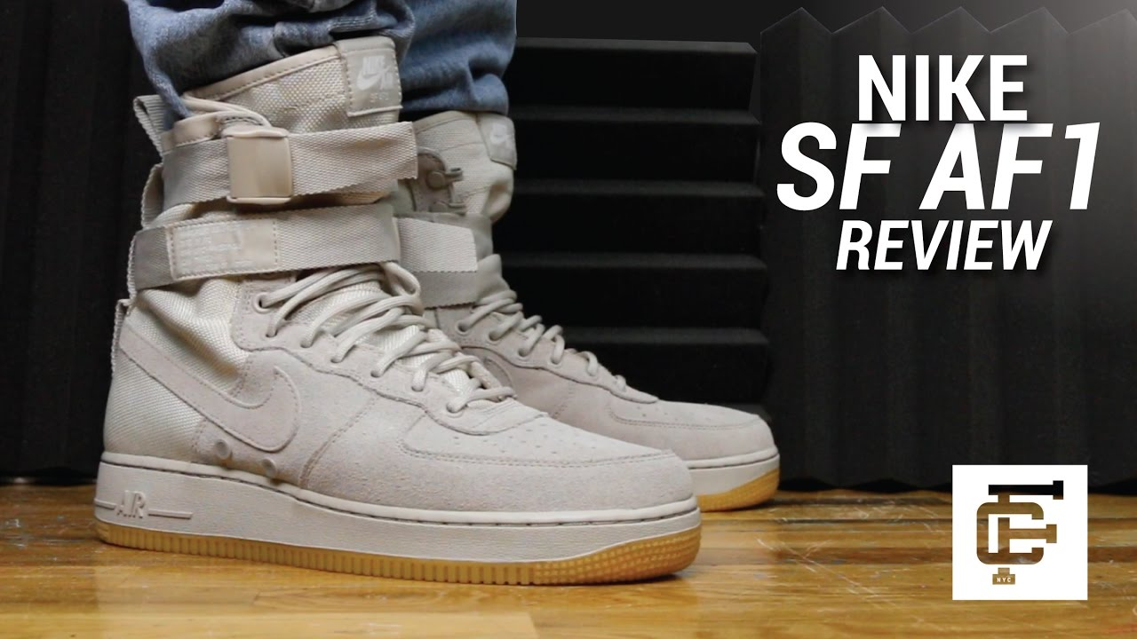 NIKE SPECIAL FIELD AIR FORCE 1 SF AF1 REVIEW - YouTube
