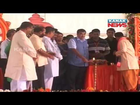 Union Minister Nitin Gadkari Lays Foundation For 2nd Bridge Over Brahmani River