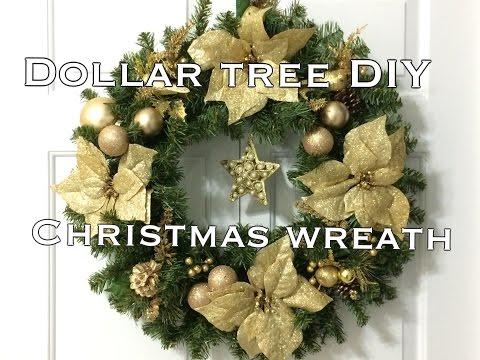 DIY|DOLLAR TREE Christmas Wreath|Super Easy!!VD#5