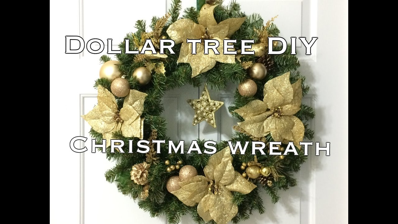 Diy Dollar Tree Christmas Wreath Super Easy Vd 5 Youtube