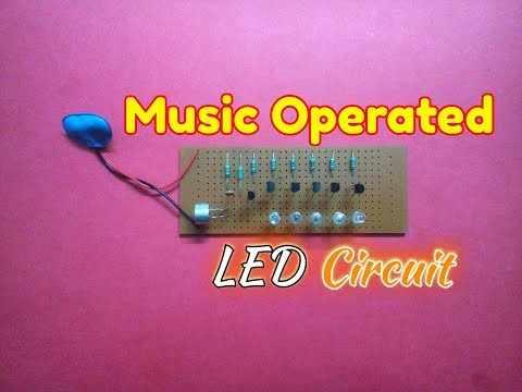 Music Operated Dancing Light Circuit...How To Make A Music Rhythm LED Flash Light...