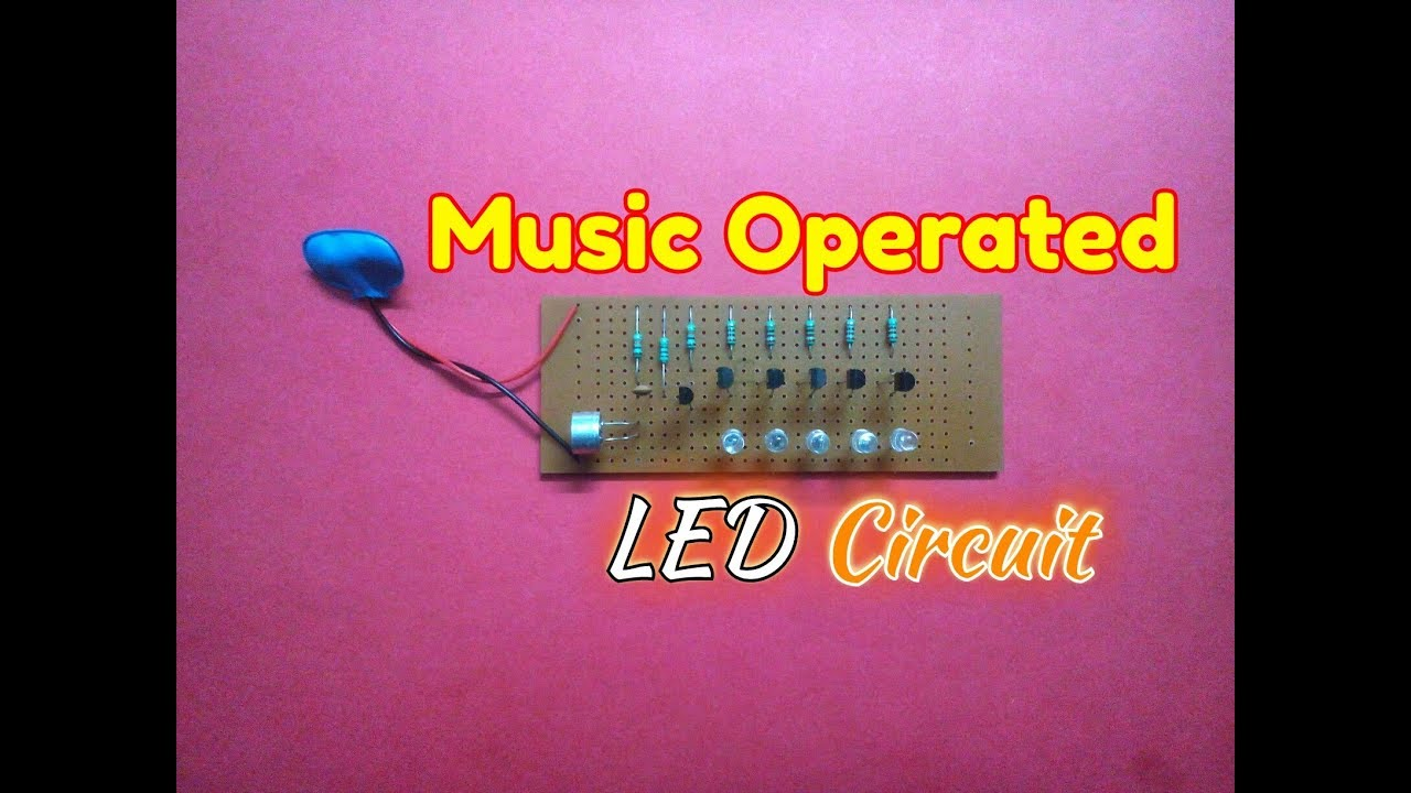 Music Operated Dancing Light Circuithow To Make A Rhythm How Build Speaker Mic Circuit Diagram Led Flash