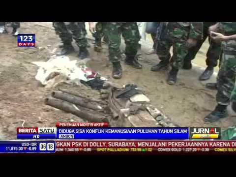 Warga Ambon Digegerkan Penemuan Puluhan Mortir Aktif