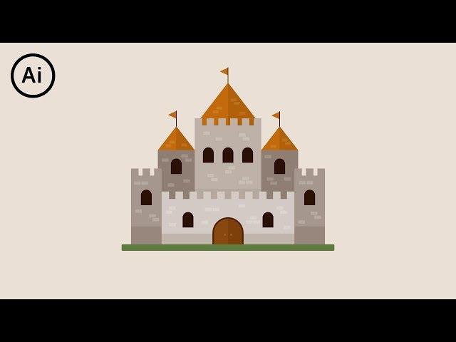 Flat Design Castle | Illustrator Tutorial