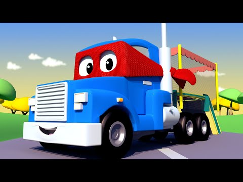 TRAMPO Truck Carl the Super Truck - Car City ! Cars and Trucks Cartoon for kids