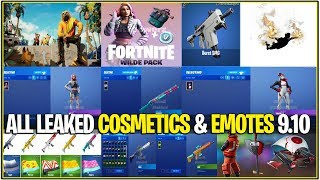 *NEW* Fortnite: ALL LEAKED SKINS & EMOTES! (9.10, Wilde Start Pack, Glitter, Lock It Up, Takara)