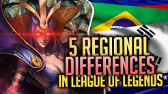 5 Unique REGIONAL Differences in League of Legends