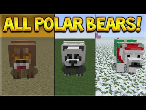 Minecraft Console Edition - NEW Polar Bear Mob + Items In All Texturepacks (Console Edition)