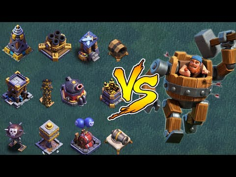 Max Battle Machine VS All Max Builder Hall Base Defence Troops Attack | COC Funny Attack