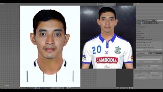 How to make face for PES 2019  face Blender 3d