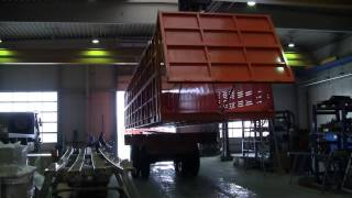 Rigid dump trailers for sugar cane transportation. Custom-made in Germany.