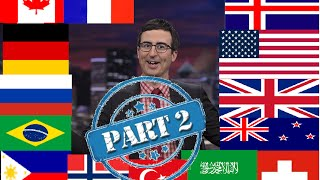 PART 2 John Oliver Describes Countries (Compilation)