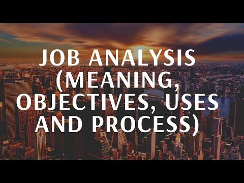 Job Analysis (Meaning,