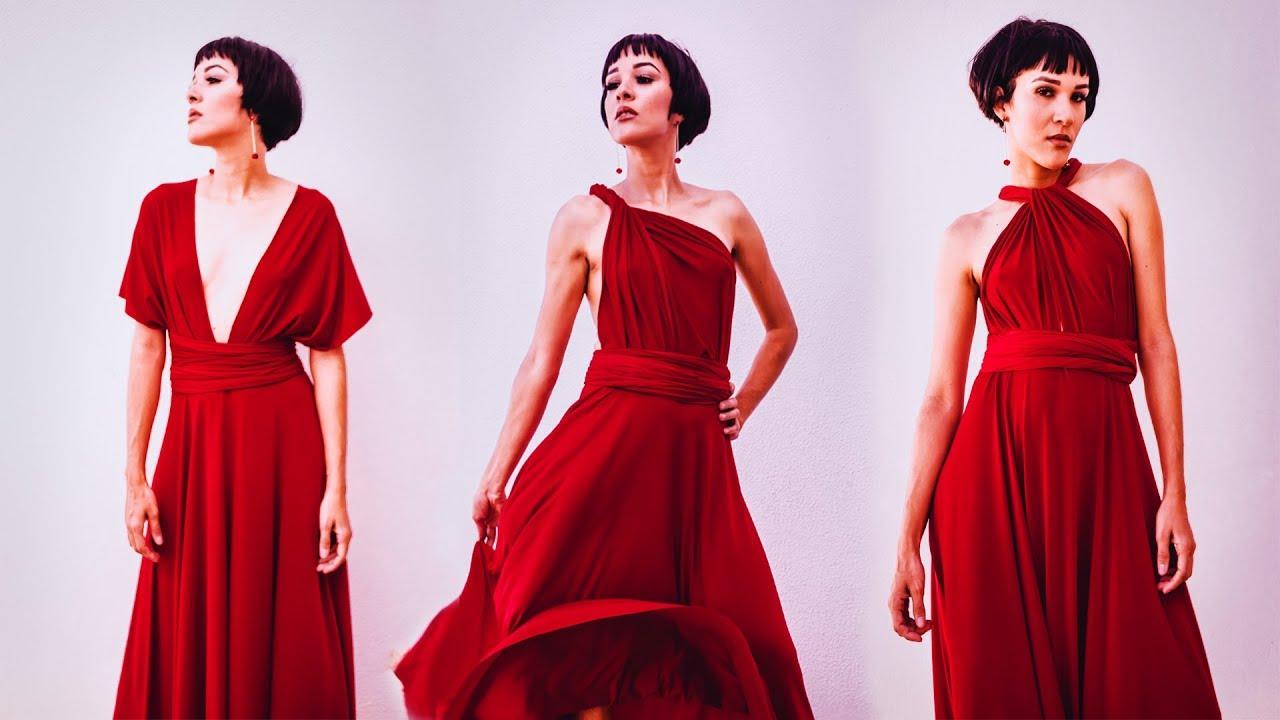 2809d4796b463c TUTORIAL: Infinity Dress- - Convertible Dress- Vestido multiposición Ep. 249