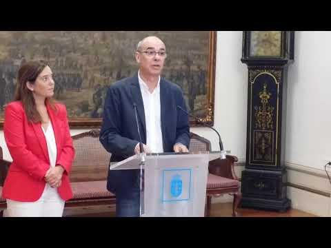 Rolda de prensa de presentación do acordo entre o BNG e o PSdeG-PSOE para o mandato 2019-2023