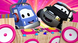 Police car for kids -  MUSIC in the MOONLIGHT! - Car Patrol in Car City !