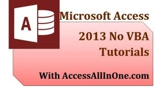 Access 2013 29 - Log In Form 1 - Input Mask